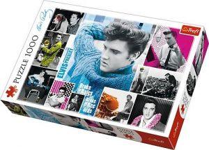 Puzzle Trefl  1000 dílků  - Elvis Presley - věčně mladý - koláž  10541
