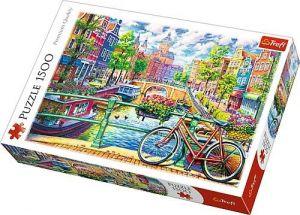 Puzzle Trefl 1500 dílků -  Amsterdamský kanál  26149