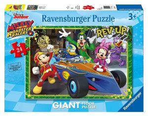 Ravensburger - Gigapuzzle 24 dílků - Mickey a závodníci 055241
