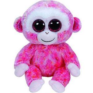 TY Beanie Boos -  červeno-bílá opice  Ruby   37010 - 24 cm plyšák