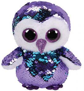 TY Beanie Boos Flippables - Moonlight - fialovo-modrá sova     36439 - 24 cm plyšák