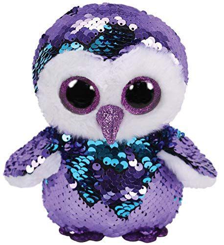 TY Beanie Boos Flippables - Moonlight - fialovo-modrá sova 36439 - 24 cm plyšák TY Inc. ( Meteor )