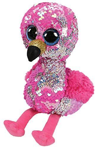 TY Beanie Boos Flippables - Pinky - růžový plameňák 36267 - 15 cm plyšák TY Inc. ( Meteor )