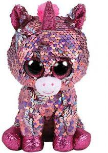 TY Beanie Boos Flippables - Sparkle - růžový jednorožec     36436 - 24 cm plyšák