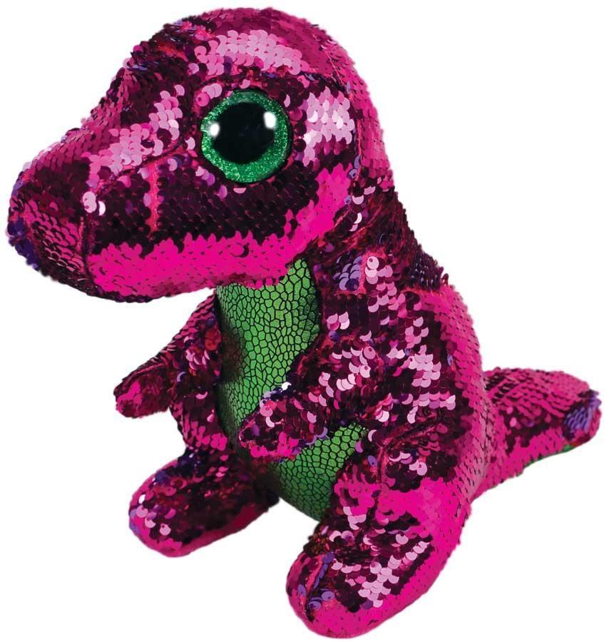 TY Beanie Boos Flippables - Stompy - růžovo-zelený dinosaurus 36262 - 15 cm plyšák TY Inc. ( Meteor )