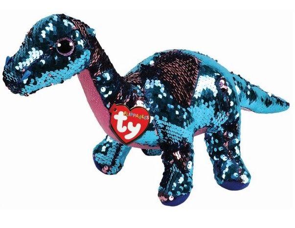 TY Beanie Boos Flippables - Tremor - růžovo-modrý dinosaurus 36263 - 15 cm plyšák TY Inc. ( Meteor )