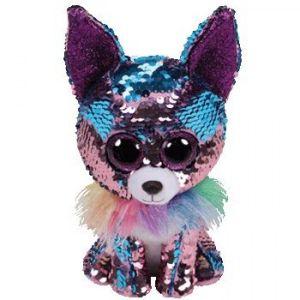 TY Beanie Boos Flippables - Yappy - čivava  modrofialová    36438 - 24 cm plyšák