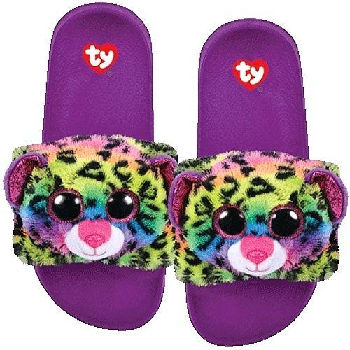 TY plyšové pantofle - barevný leopard DOTTY - vel. S ( 28-31 ) 95404 TY Inc. ( Meteor )