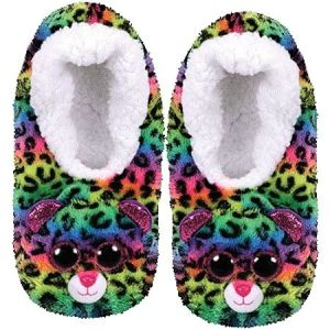 TY plyšové papuče  - barevný leopard DOTTY - vel. S ( 28-31 )  95304