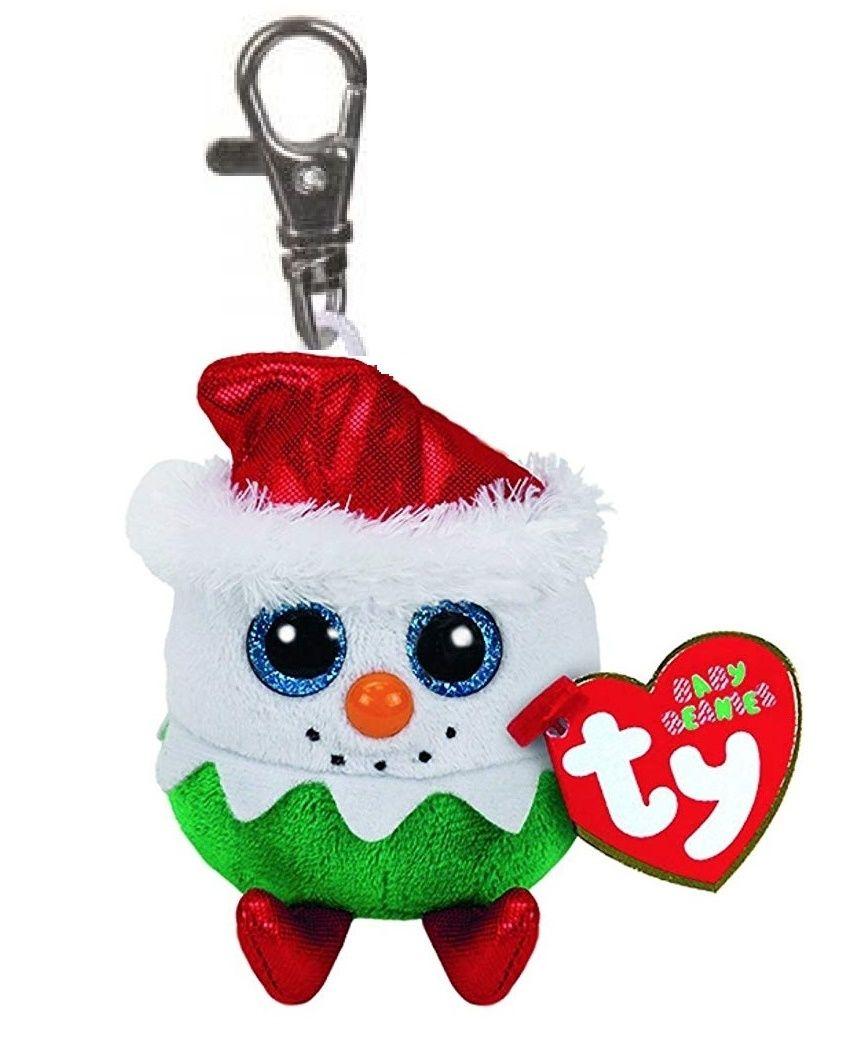 TY - Plyšový přívěšek - sněhulák Eggnog s velkýma očima 8,5 cm TY Inc. ( Meteor )