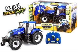 Maisto - RC Farm Tractor 1:16 New Holland  - modrý