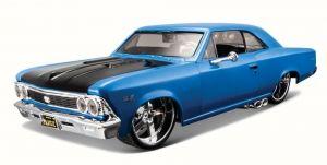 auto Maisto  1:24 Design - 1966  Chevrolet Chevelle SS 396 - modrý