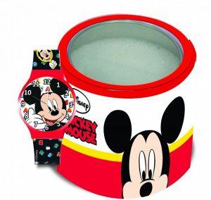 Dětské hodinky - analogové v plechovce  - Mickey Mouse