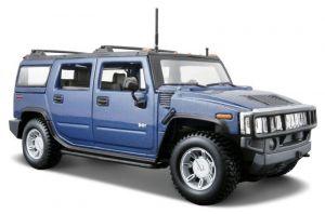 Maisto 1:27  2003 Hummer H2 SUV   31231 - modrá  barva