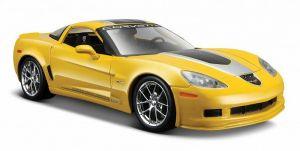 Maisto 1:24  2009 Corvette Z06 GT1 Commemorative Edition 31203 - žlutá barva