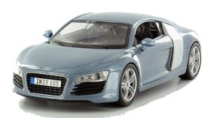 Maisto  1:24 Audi R8 31281 - šedomodrá metalíza