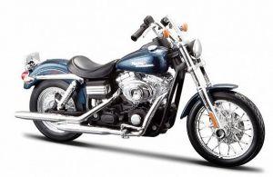 Maisto Harley Davidson 2006 FXDBI Dyna Street Bob 1:12  tmavěmodrá metalíza