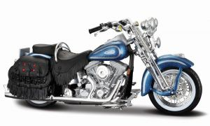 Maisto Harley Davidson FLSTS Heritage Softail Springer 1999 1:18 blue