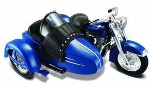 Maisto Harley Davidson Sidecar - 1953 FL Hydra Glide 1:18  modrá