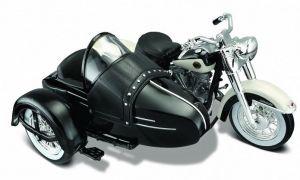 Maisto Harley Davidson Sidecar - 1958 FLH  Duo  Glide 1:18  bílá