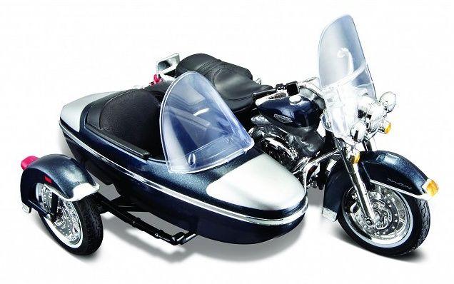 Maisto Harley Davidson Sidecar - 2001 FLHRC Road King 1:18 modrá