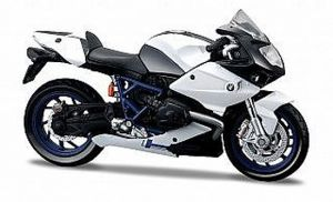 Maisto motorka 1:12 BMW HP2 Sport - bílá