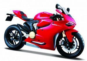 Maisto motorka 1:12 Ducati 1199 Panigale  - červená