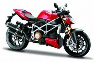 Maisto motorka 1:12 Ducati  mod. Streetfighter S - červená