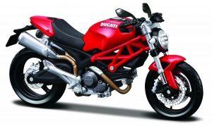 Maisto motorka 1:12 Ducati Monster 696 - červená