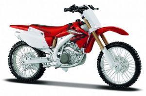 Maisto motorka 1:12 Honda CRF 450R  - červená