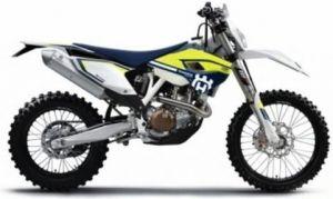 Maisto motorka 1:12 Husqvarna FE 501 - žlutá