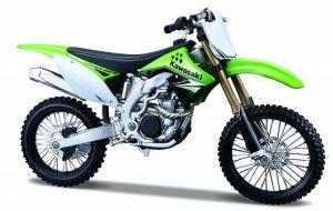 Maisto motorka 1:12 Kawasaki KX 450F  - zelená