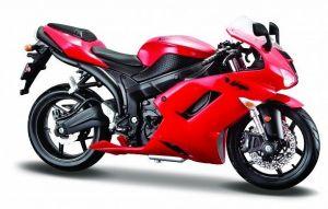 Maisto motorka 1:12 Kawasaki Ninja ZX 6R - červená