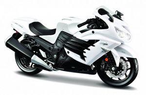 Maisto motorka 1:12 Kawasaki Ninja ZX 14R - bílá