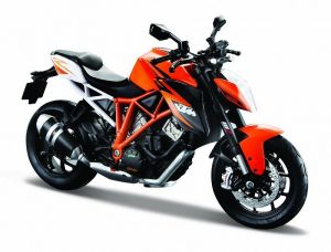 Maisto motorka 1:12 KTM 1290 Super Duke R - oranžová