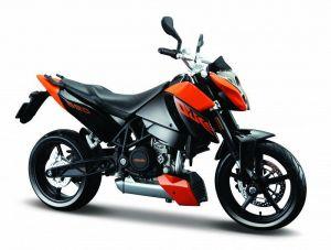 Maisto motorka 1:12 KTM 690 Duke - oranžová