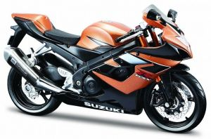 Maisto motorka 1:12 Suzuki GSX-R1000  - oranžová