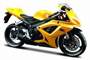 Maisto motorka 1:12 Suzuki GSX-R600  - žlutá