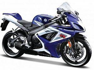 Maisto motorka 1:12 Suzuki GSX R750 - modrá