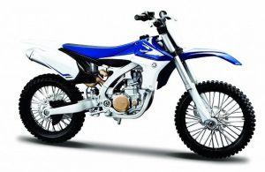 Maisto motorka 1:12 Yamaha YZ450F  - modrá