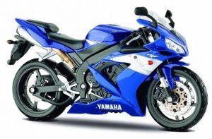 Maisto motorka 1:12 Yamaha YZF R1 - modrá