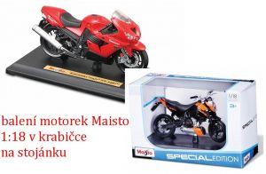 Maisto motorka na stojánku - KTM 450 SX-F 1:18 oranžová Miasto