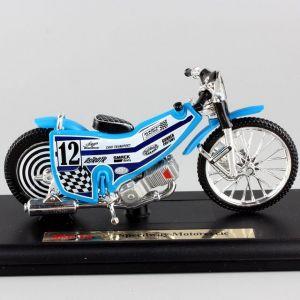 Maisto  motorka na stojánku -  Speedway Motorcycle - plochodrážní   1:18  modrá