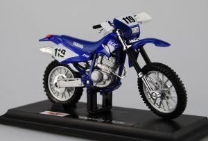 Maisto  motorka na stojánku - Yamaha TT-R250  1:18  modrá