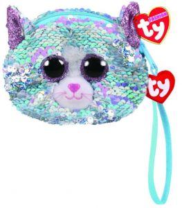 Meteor TY - plyšová kabelka do ruky s flitry   -  kočička Whimsy  95233