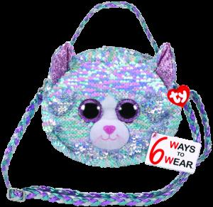 Meteor TY - plyšová kabelka na rameno  s flitry 6 ways -  kočička Whimsy    95133