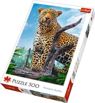 Puzle Trefl 500 dílků - Leopard 37332