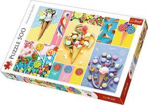 Puzle Trefl 500 dílků - Oblíbené sladkosti  37335
