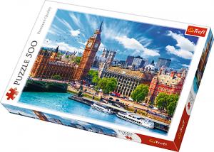 Puzle Trefl 500 dílků - Prosluněný Londýn  37329