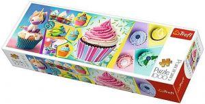 Puzzle TREFL  1000 dílků - panorama - barevné mufíny 29045